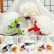 Bride Bridal Bouquet Artificial Foam Flowers Wedding Decoration Fake Roses