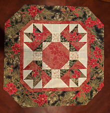 Winter Floral Table Topper Quilt Kit / Pattern + Moda Let It Glow Metallic Fabri