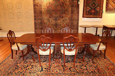 Awesome 1940's Solid Mahogany Dining Room Set 6 Chairs 2 leaves
