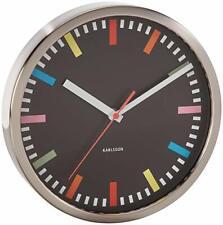Karlsson Kitchen Rainbow Wall Clock 25cm diameter Black KA4138