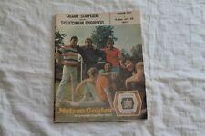 1971 Program Saskatchewan Roughriders vs Calgary Stampeders Football CFL Book