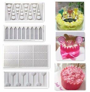 4Pcs/Set Silicone Fondant Cake Mould Chocolate Sheet Mold Cake Decoration