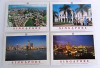 4 x SINGAPORE Singapur Postkarten Postcards Lot Asien Asia, frankiert, w/ stamps