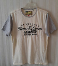 STEVE MCQUEEN Collection by BARBOUR Intl. Short Sleeve Beige Gray T-Shirt Size L