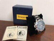 Stauer Chronograph Watch Dual Time Alarm Light Large Face Digital Analog Hybrid