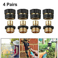 3/4' Garden Hose Quick Connect Water Hose fit Brass Female & Male Connector Set