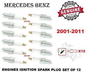 Mercedes Spark Plug Set of 12 For C CLK, SLK230, R170 R171 W203 W209 GENUINE