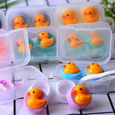 1Box Travel Portable Cute Duck Contact Lens Storage Box Case Holder Organizer