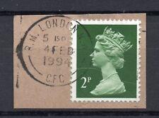 GB = QE2 Postmark - `R.M. LONDON N.W. / (C.F.C.)` 1994 Thin Arcs cancel. (blv)