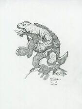 Mike Mignola Original Gamera Sketch