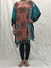 Hippie Poncho Casual Bohemian Blouse Tops Batwing Sleeve Shawl Loose Woman shirt