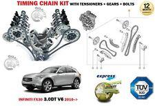 FOR INFINITI FX30 3.0DT V6 24V 2993cc 2010-> TIMING CHAIN TENSIONER KIT + GEARS