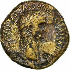 [#517423] Coin, Claudius, Sestertius, 50-54, Rome, VF(20-25), Bronze, RIC:115
