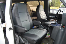 FORD E-SERIES VAN 1998-2014 IGGEE S.LEATHER CUSTOM FIT SEAT COVER 13 COLORS