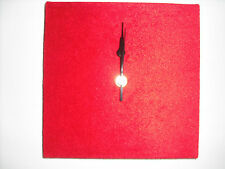 FAUX SUEDE WALL CLOCK HANDMADE 30CM SQUARE BROWN GREEN CREAM WHITE RED PURPLE