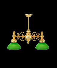 1/12 Dolls House Two Green Arm, Games Study Room Miniature Light Lamp LGW