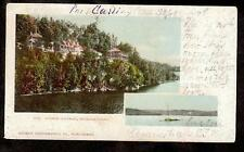 c.1904 summer cottages Muskoka Lakes Ottawa Ontario Canada postcard