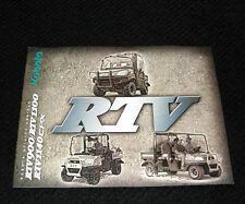 KUBOTA RTV900 RTV1100 RTV1140CPX UTILITY VEHICLE CATALOG BROCHURE
