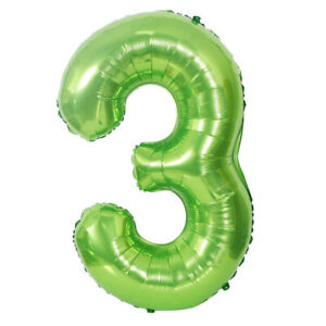"""40"""" Green Number 0/1/2/3/4/5/6/7/8/9 Foil Balloon Birthday Party Decoration"""