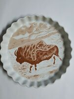Vintage Shafford Co. Japan 'The Primitive Collection' Buffalo Pie Plate 10""