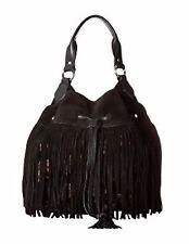 NWT $278 Sam Edelman Tyra Hobo Fringe Bag Black