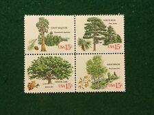 US 1764 1767 TREES block of 4 MNH