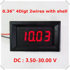 DC 3.5V-30V 4 Digital LED Volt Voltage Meter Voltmeter 5v 12V 24V car Battery R