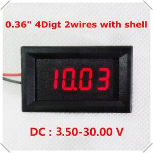 DC 3.50-30V Precision 4 Digital LED Voltage Meter Panel Voltmeter 5v 12v 24v Car
