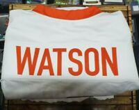 DESHAUN WATSON AUTOGRAPHED CLEMSON Texans  WHITE JERSEY JSA/Gold Rush