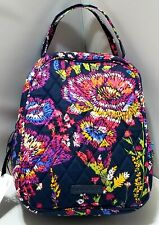 New Vera Bradley in floral MIDNIGHT WILDFLOWER Lunch Bunch food BAG