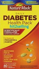 Nature Made Health Diabete Pack (60 Packets) Vitamin C, D, Fish Oil Exp 12/2018