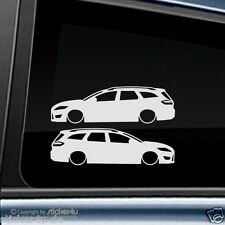 (1059) 2x Fun Sticker Aufkleber low and Slow Ford Mondeo MK 4 Tunier ST RS