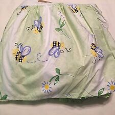 "Pottery Barn Kids ""Dandelion Bumble Bee "" Twin Dust Ruffle"