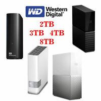 WD Western Digital My Book Elements Desktop External Hard Drive 4TB 8TB 6TB 2TB