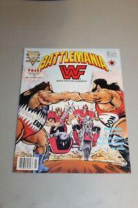 WWF Battlemania Magazine #5 1992 Valiant Low Print Last Issue Legion of Doom +++