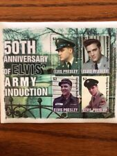 """3 Sets Of Elvis Presley Stamps """"Army Induction #0808"""",#0807 & #0809"""