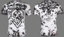 American Fighter Mens S/S T-Shirt FAIRBANKS Athletic WHITE TIE DYE Gym S-3XL $40