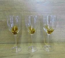 3 Tall Clear / Smoked Tinted Wine Water Goblets Glasses 220mm Tall
