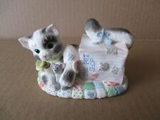 """Calico Kittens """"Our Friendship Is Out Of The Bag"""" figurine"""