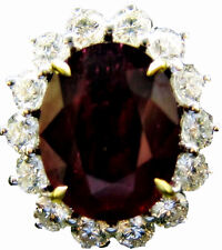 and diamond ring white gold Ruby 6.03 ct oval shape