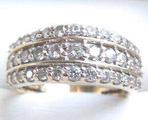 Genuine 1.00ct Diamond Cocktail Ring 10K Yellow Gold Michael Hill Jeweller