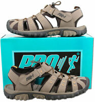 Mens New Taupe Closed Toe Trail Holiday Beach Sandals Size 7 8 9 10 11 12