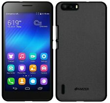 Amzer Exclusive Pudding Matte TPU Case Back Cover For Huawei Honor 6 Plus -Black