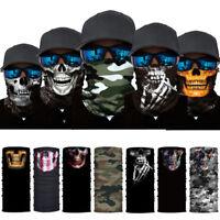 Headbands Skull Motorcycle Cycling Neck Scarf Half Face Mask Bandana Ski Sports