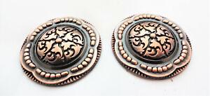 "Copper Zinc Jeremiah Watt Slotted Conchos Coin Edge Horse Tack New Pair 1 1//2/"""