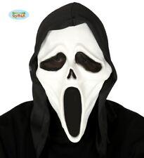 Déguisement Halloween Visage Fantôme Masque & Capuche Latex Scream Type avec Fg