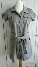 Tu Grey Shirt Dress Size 12
