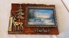 Cadre en bois 23,5 x 16,5 cm porte clés avec thermomètre