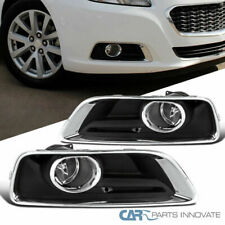 Chevy 13-15 Malibu Clear Bumper Fog Lights Driving Lamps Pair w/ Bezel+Switch