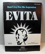 EVITA: Don't Cry for Me Argentina by Tim RIce & Andrew Lloyd Weber - Sheet Music